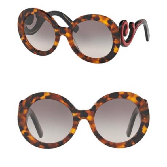 f1619b5e07e4 Prada catwalk minimal baroque sunglasses